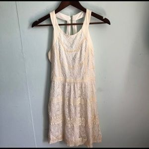 American Eagle Ivory Laced Embroidered Dress